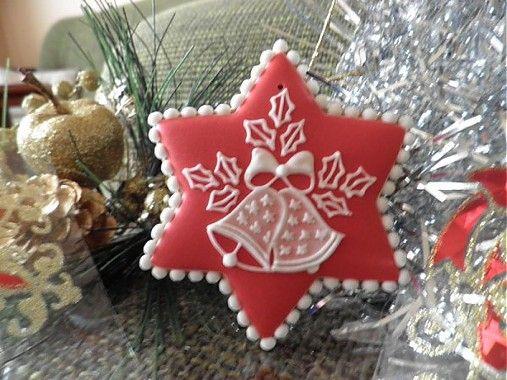 Vianočný medovník/à transposer en porcelaine froide ou bois+ dentelles&broderies anciennes de récup+peinture à cerner/DB