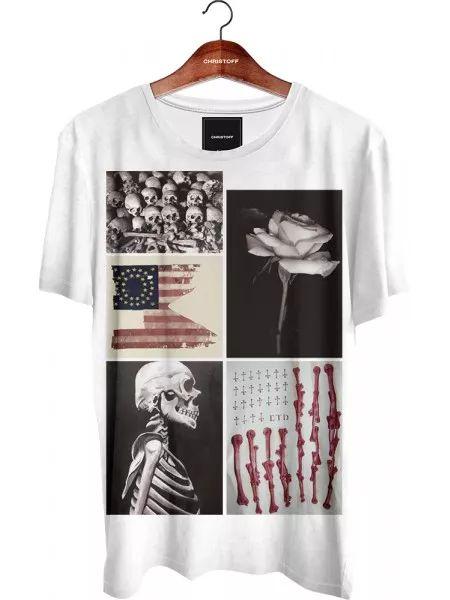 Camiseta Gola Básica - Skulls and Bones