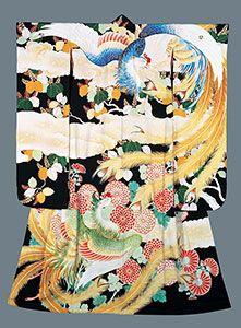 Yuzen kimono by National Living Treeasure of Japan, TABATA Kihachi (1877-1956) 田畑 喜八 人間国宝