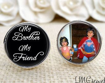 Brother of the Bride or Groom Cufflinks, Wedding Cufflinks, Wedding Keepsake, Gift for Brother