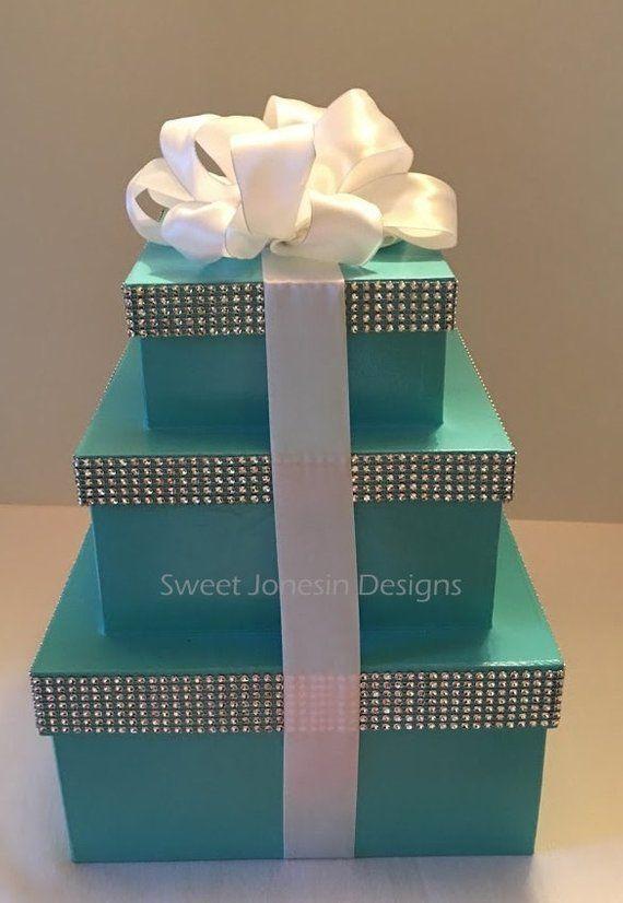 Aqua Blue Boxes Robin Egg Blue Gift Boxcenterpiece Boxes Etsy Tiffany Blue Party Tiffany Blue Wedding Theme Blue Gift