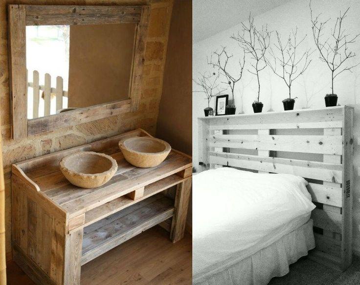 1000 id es sur le th me salle de bains palette sur pinterest id es palettes - Recup palette de bois ...