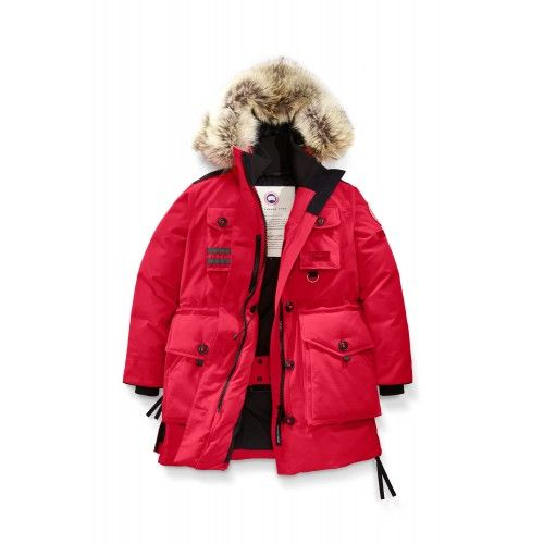 canada goose röd jacka