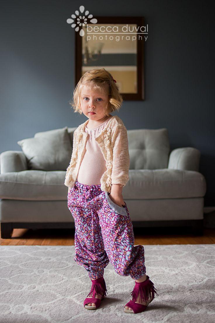 Pattern Emporium Girls Harem Pants 'Little Miss Fancy Pants' Photo: Bec DuVal