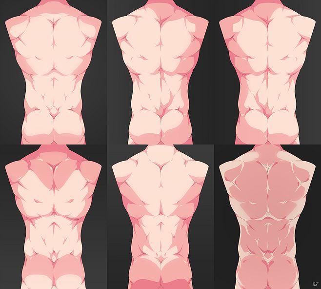 「胴体とバックの基本的なガイド」/「fu...@澡巾采集到线稿,人体,结构(2975图)_花瓣人文艺术