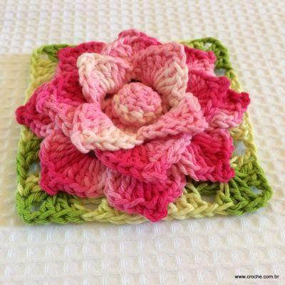 ****Flor Rosa Mariana passo a passo - www.croche.com (79)