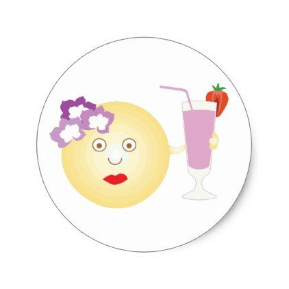 Cocktail Loving Girly Emoji Stickers - craft supplies diy custom design supply special
