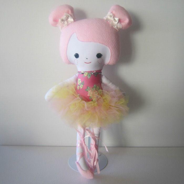 Pink Hair Ballerina Soft Doll | Chelle Belle | madeit.com.au