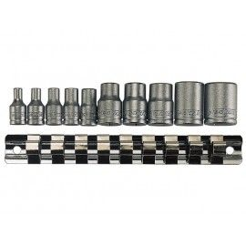 "Sada 1/4"", 3/8"" TORX hlavíc TX-E4 - E18, 10 dielov, Teng Tools"