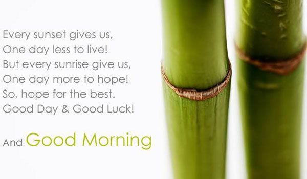 """One more day to hope! 24 Beautiful Quotes To Greet Someone """"Good Morning"""". Picture Message - @mobile9 #morning #quotes"""