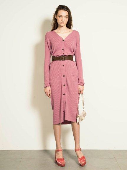 ロングカーディガン(ニットワンピース) snidel(スナイデル) ファッション通販 ウサギオンライン公式通販サイト