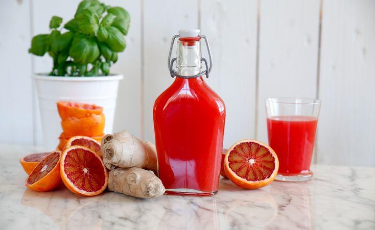 Underbart god blodapelsin och ingefärajuice!