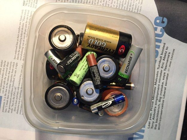 And a jar of batteries that are mostly dead, but might work in a clock or a remote or something? more like a cabinet