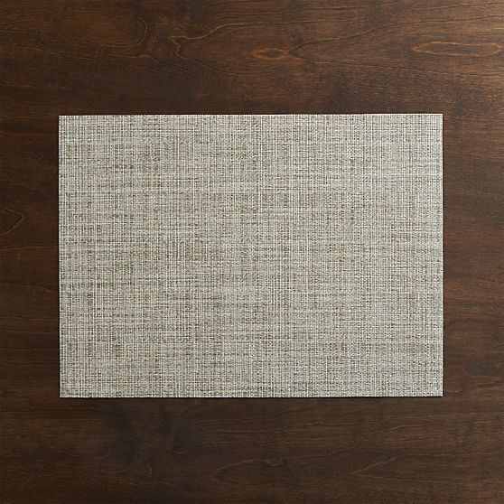 Chilewich® Crepe Neutral Placemat in Placemats | Crate and Barrel