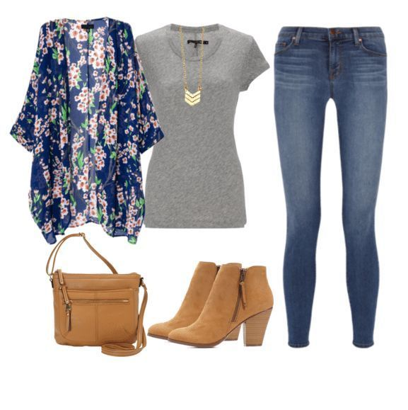 These 7 t-shirt outfits all started with the same gray t-shirt and jeans. It's fun to take basics and add layers, accessories and footwear to spruce them up a bit and make you feel like you have a whole new wardrobe!