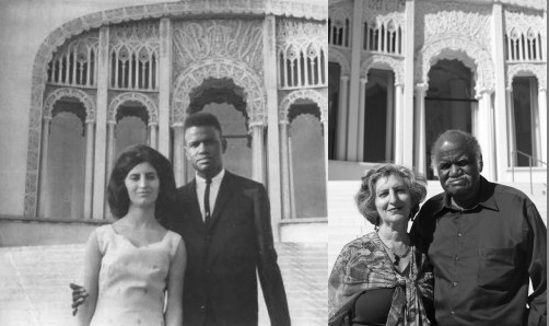 """In 1965 Jack and Farzaneh Guillebeaux fell in love in Asheville, North Carolina where it was illegal to marry intershade. So they decided to drive 500 miles north to Wilmette, Ill. and wed in the Baha'i Temple which encourages intra-species marriages to promote human amity. The wedding went forward under a bomb threat. """" Just by seeing an [inter-shade] couple it tends to start erasing that phobia,"""" Farzaneh said. Their silver anniversary earned an apology from the Asheville government in 1990.: Anniversaries Earn, Couple Marriage, Silver Anniversaries, Baha I Temples, Human Amity, Asheville North Carolina, Silver Anniversary, 500 Miles, Bombs Threat"""