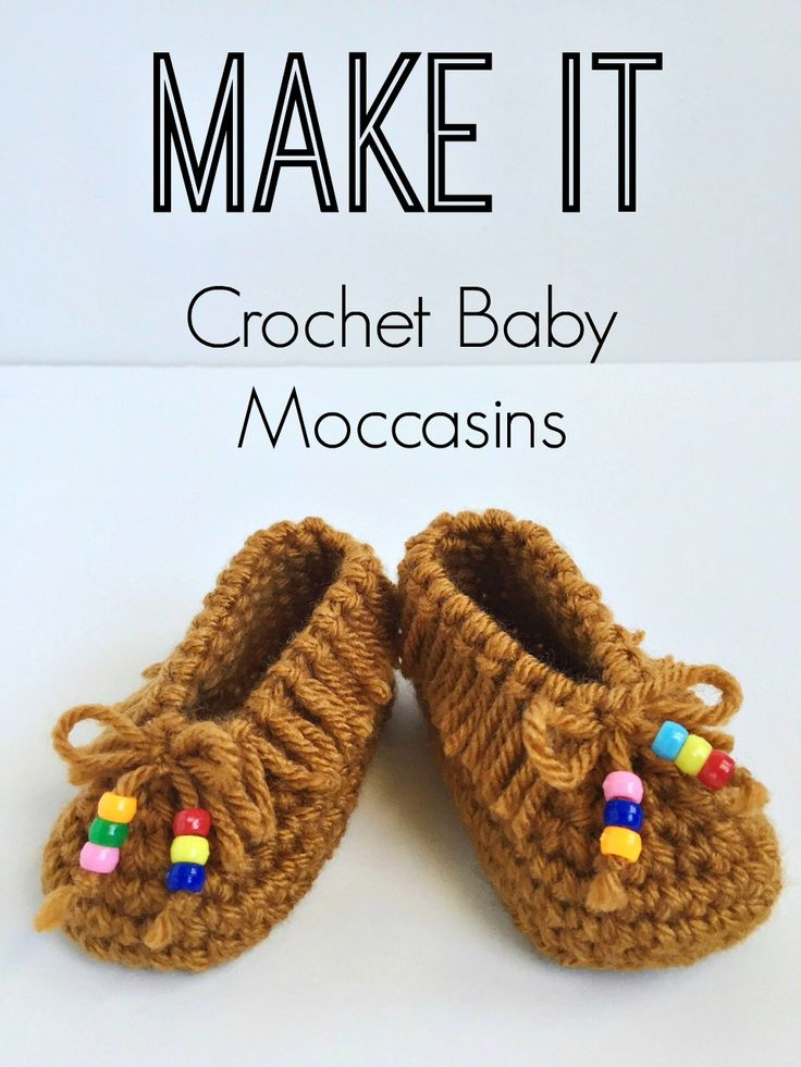 Crochet Baby Moccasins! So cute! FREE PATTERN: