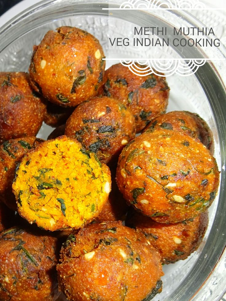 Veg Indian Cooking: #Methi #Muthia #MethiMuthia is a Gujarati delicious #snack recipe made from gram flour and whole wheat flour. It is flavoured with a goodness of fresh fenugreek leaves and aromatic spices. This snack recipe can be enjoyed steamed as well as fried way.