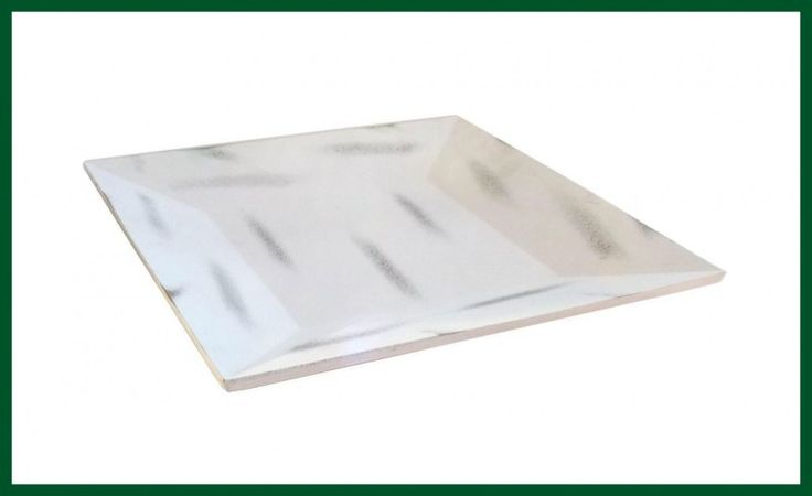 Tablett Holz - Look Vintage gewischt Schale Kerzentablett quadratisch – Bild 2