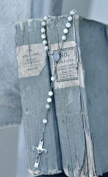 When I was a child I lost a little blue rosary in a glass holder. I want it back!