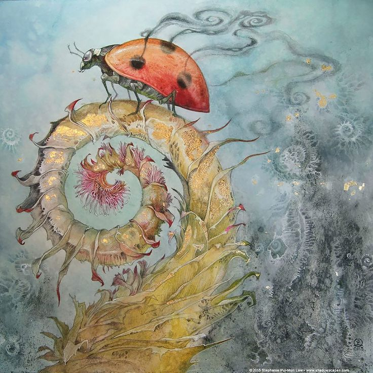 Fairytale-like Watercolor Paintings Of Plants And Animals By Stephanie Law #painting #illustration