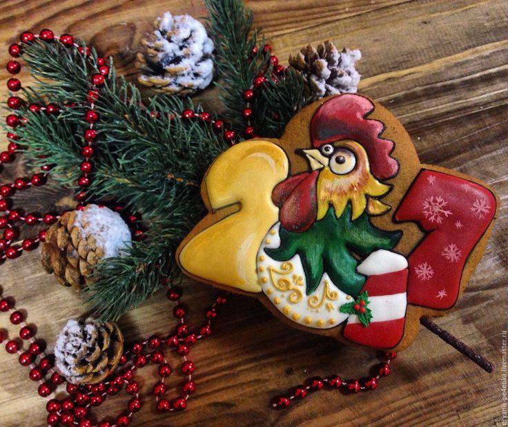 Купить или заказать 'Символ года' в интернет-магазине на Ярмарке Мастеров. Сказочно вкусный пряник, идеальный подарок к наступающему 2017 году. Порадует Вас и Ваших близких. Яркий и вкусный пряник-прекрасное дополнение для праздничного стола.