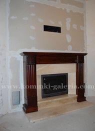 Kominek - portal drewniany