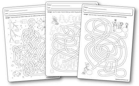 Fiches d'activités Labyrinthes de l hiver