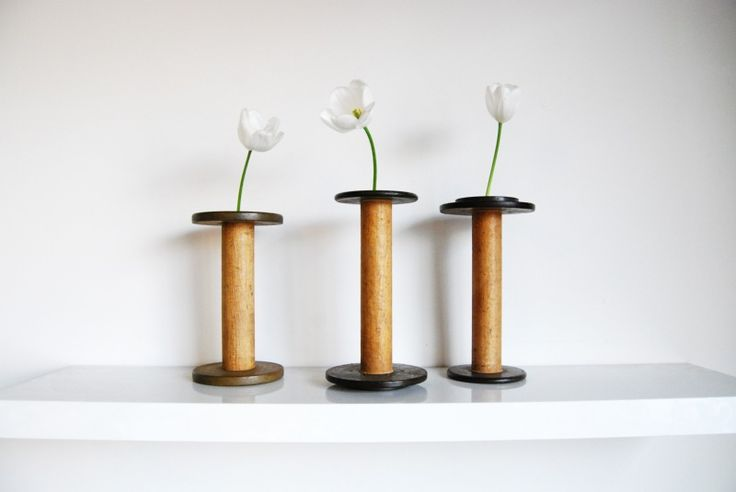 decorate with: vintage wooden spools