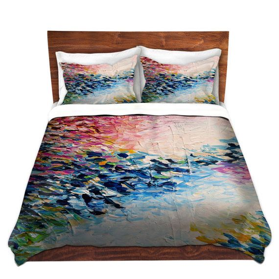 paradise dreaming fine art duvet covers king queen twin size feminine decor bedding girly abstract colorful