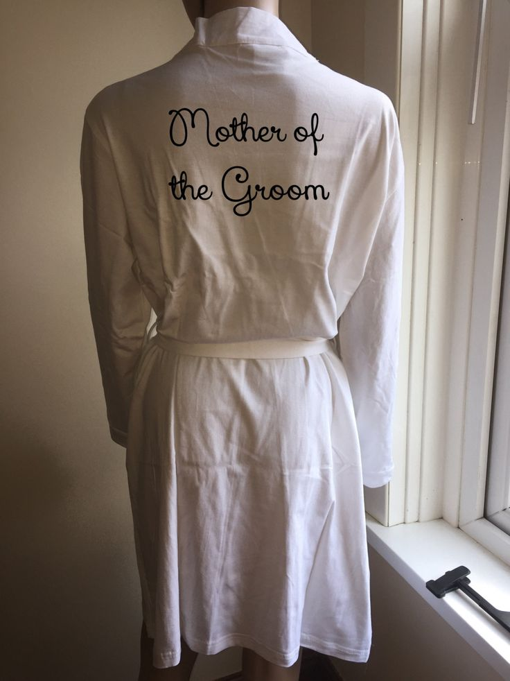 Mother of the bride robe , cotton robe , mother of the groom robe , dressing gown spa robe personalised robe womans robe womans clothing by personaliseddiamante on Etsy