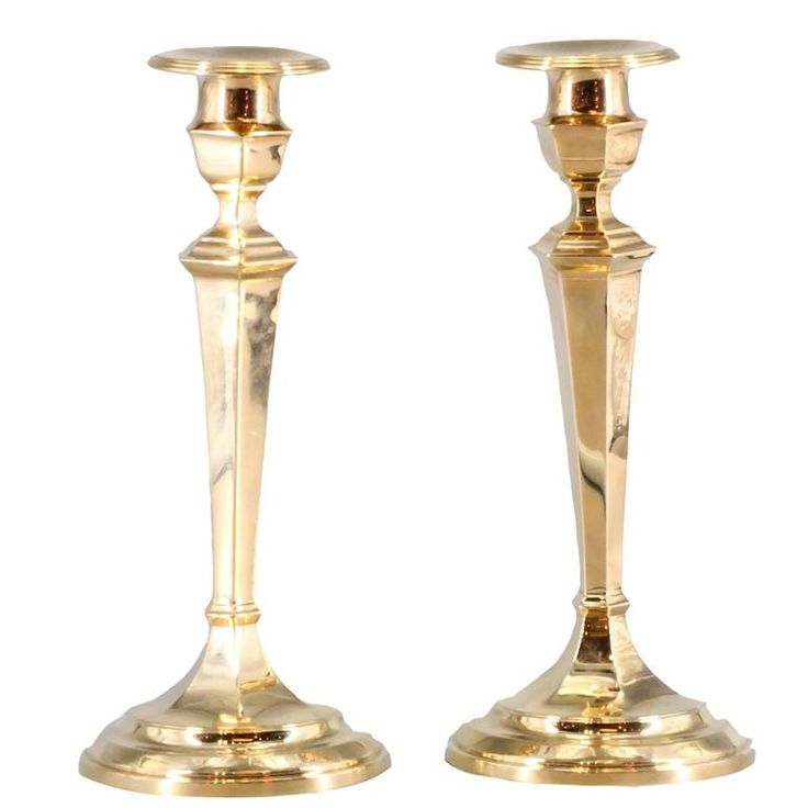 Gorham Retro Pair Of Gold Candlesticks Candleholders