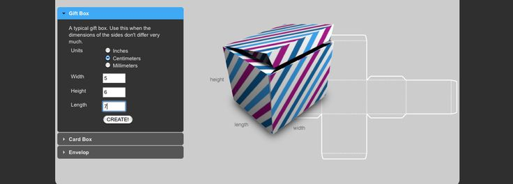 card box template generator - a custom box template maker works for boxes flat