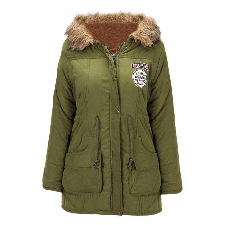 Lisli Womens Parkas Coats Faux Fur Lined Overcoats Jackets Women's Warm Winter Parkas Coats Faux Fur Lined Overcoats 01S0195