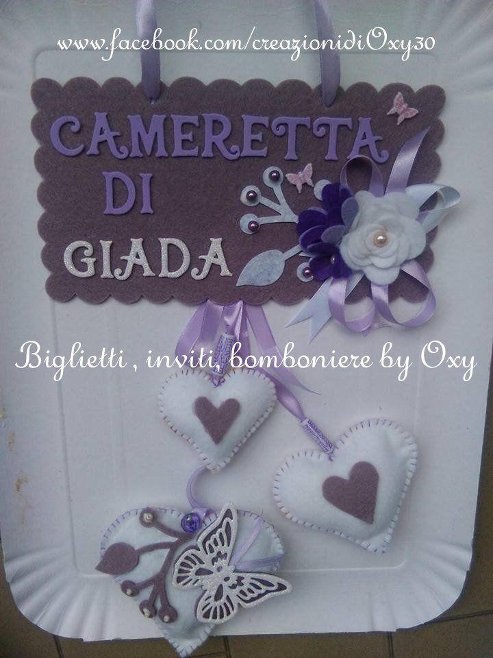 Targa fuoriporta Lilla, by Biglietti inviti bomboniere by Oxy, 14,00 € su misshobby.com