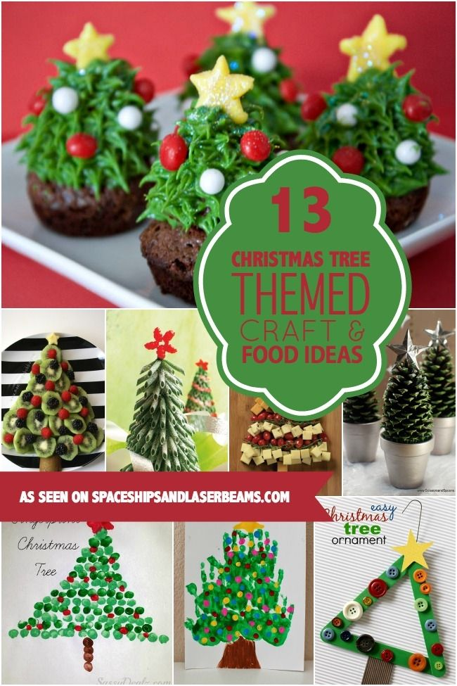 Christmas Tree Themed Crafts & Food for Kids