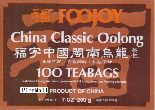Foojoy China Classic (Min-nan) Oolong (Wu Long) Tea - 100 Tea Bags http://kitchenammo.com/store/kitchen/foojoy-china-classic-min-nan-oolong-wu-long-tea-100-tea-bags/