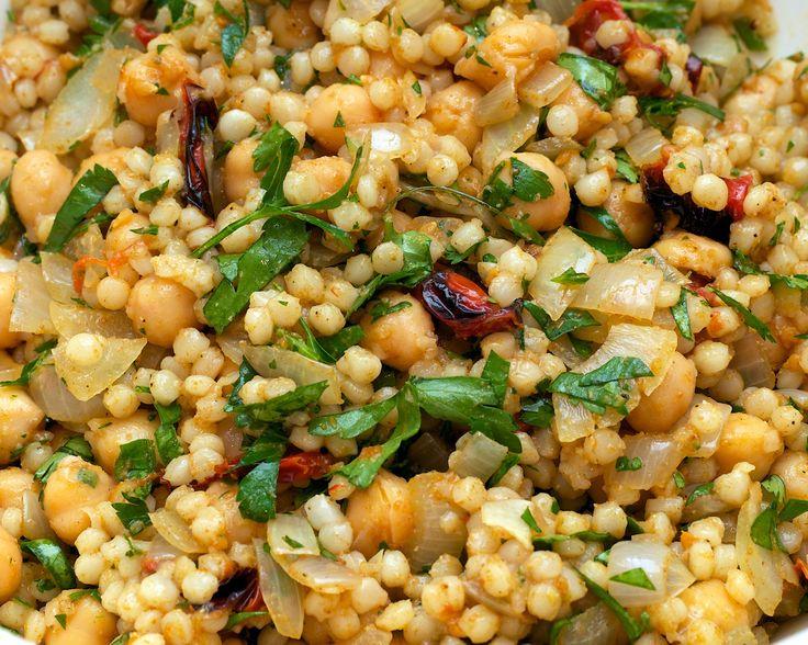 Lebanese Giant Couscous & Chickpea Salad