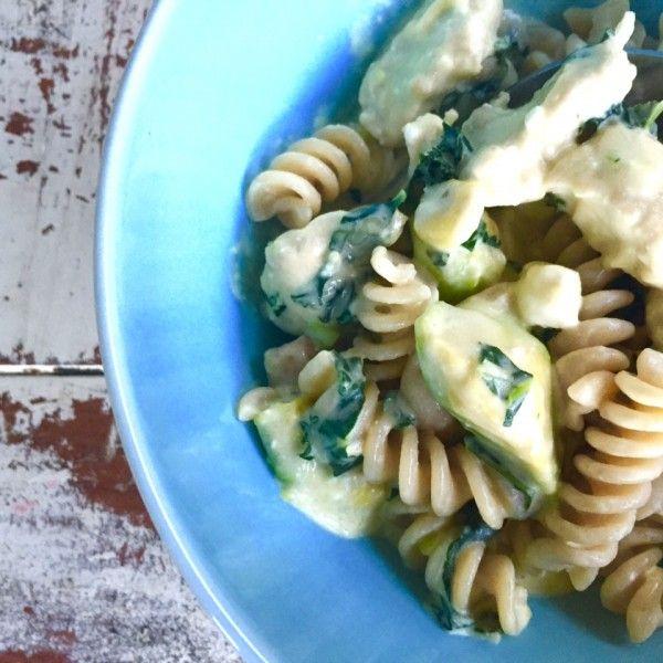 Creamy Chicken Avocado and Kale  Pasta - Lisa Corduff in the Kitchen