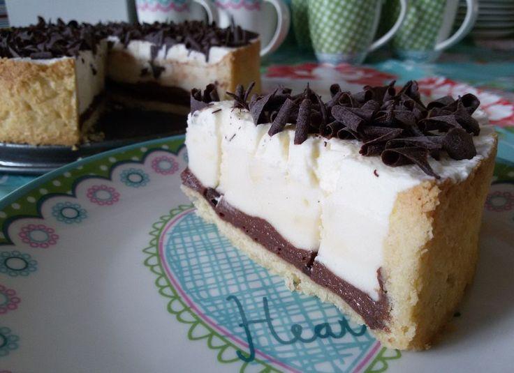Chocolade-vanille pudding taart - Het keukentje van Syts