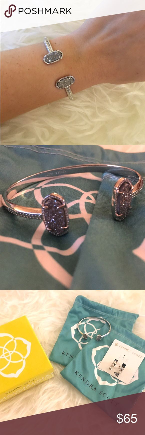Spotted while shopping on Poshmark: Kendra Scott Silver Drusy Bracelet! #poshmark #fashion #shopping #style #Kendra Scott #Jewelry