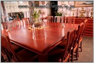 12 Seater Square Dinning Room Table