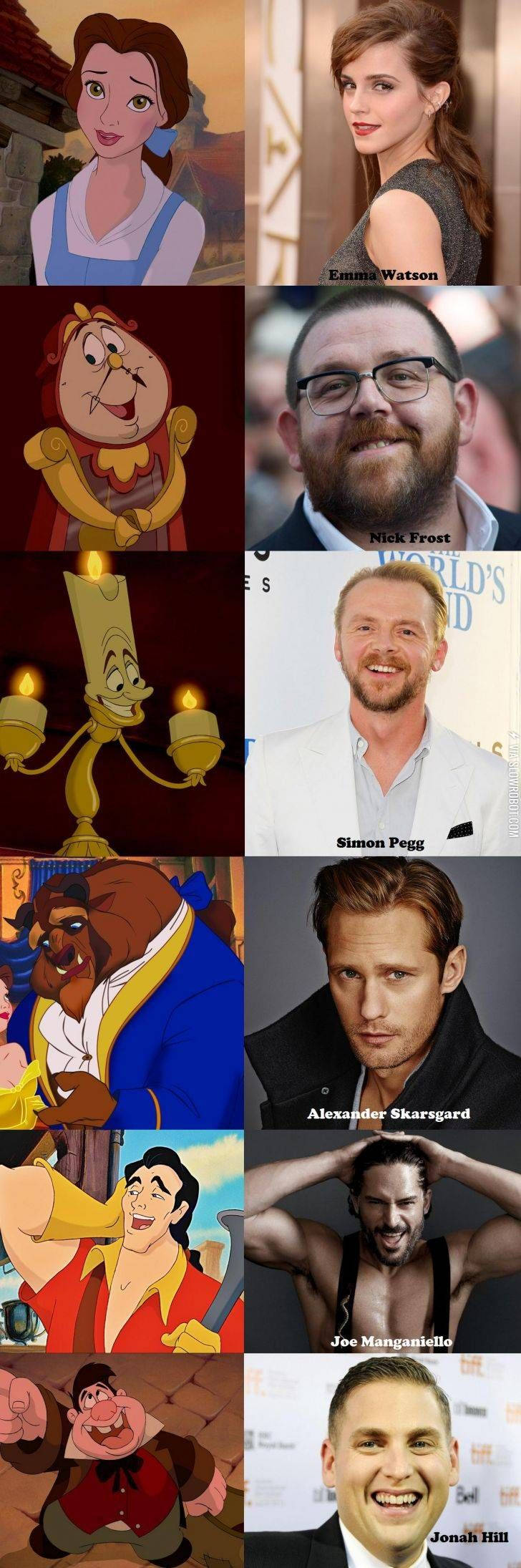 Beauty and the beast casting suggestions disney nerd