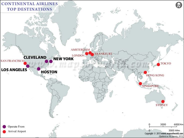 Continental Airlines Flight Schedule Offers Information About Some Of The Most Popular Flights Of The Airlines