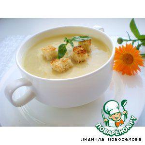 Суп-пюре из кабачков.