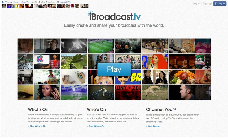 Home page. www.ibroadcast.tv
