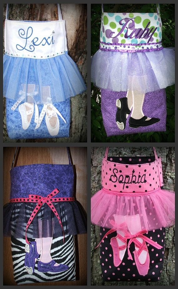 Cutest dance bags ever.