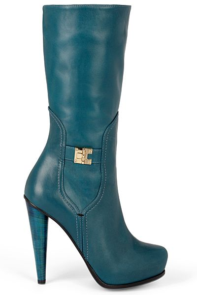 Burak Uyan - Shoes - 2012 Fall-Winter teal boots #shoes #fashion #style