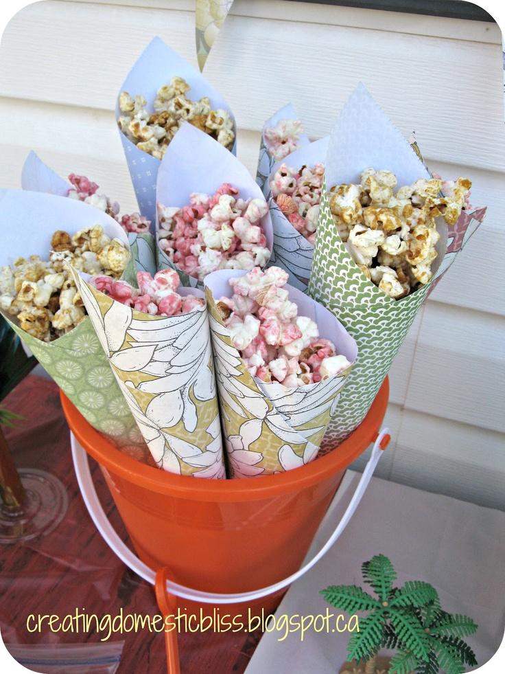 Cute idea for party popcorn!