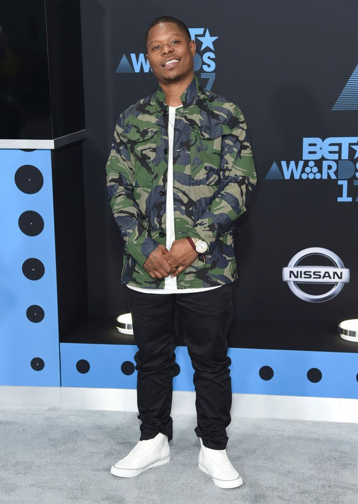 Jason Mitchell arrives at the BET Awards at the Microsoft Theater on Sunday, June 25, 2017, in Los Angeles. (Photo by Richard Shotwell/Invision/AP)